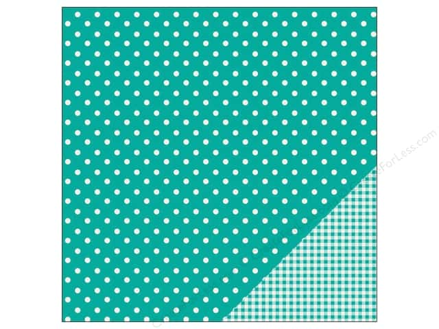 Pebbles 12 x 12 in. Paper Basics Dot Aqua (25 sheets)