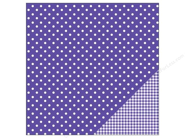 Pebbles 12 x 12 in. Paper Basics Dot Purple (25 sheets)