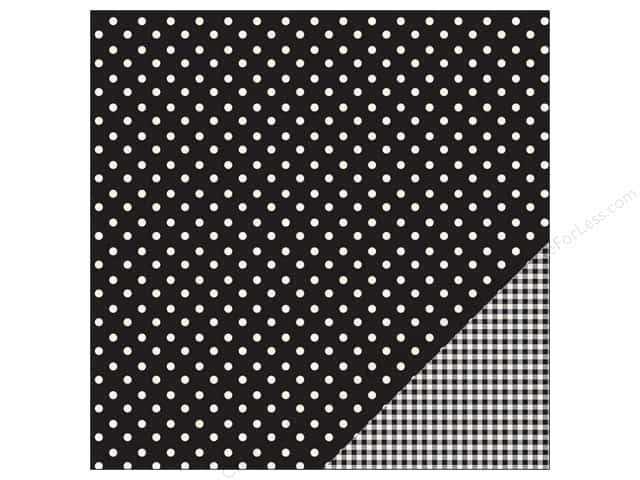 Pebbles 12 x 12 in. Paper Basics Dot Black (25 sheets)