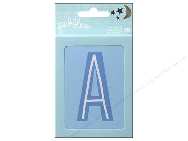 Pebbles Embellishment Special Delivery Boy ABC Cards