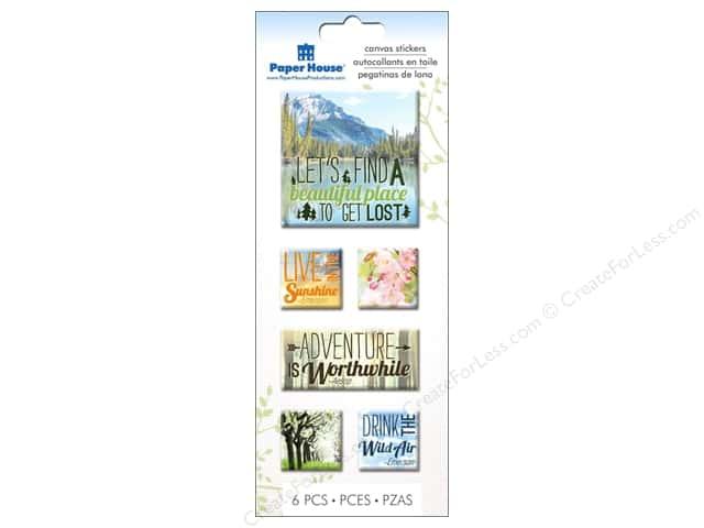Paper House Sticker Canvas Nature