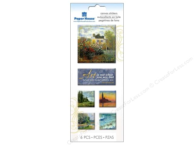 Paper House Sticker Canvas Impressions