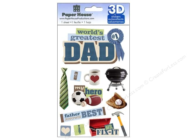 Paper House 3D Stickers - Dad