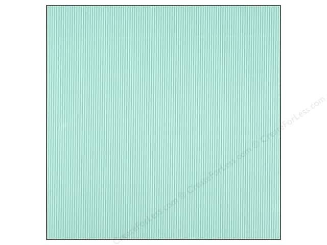 American Crafts 12 x 12 in. Corrugated Cardstock Amy Tangerine Yes Please Moments Teal (15 sheets)