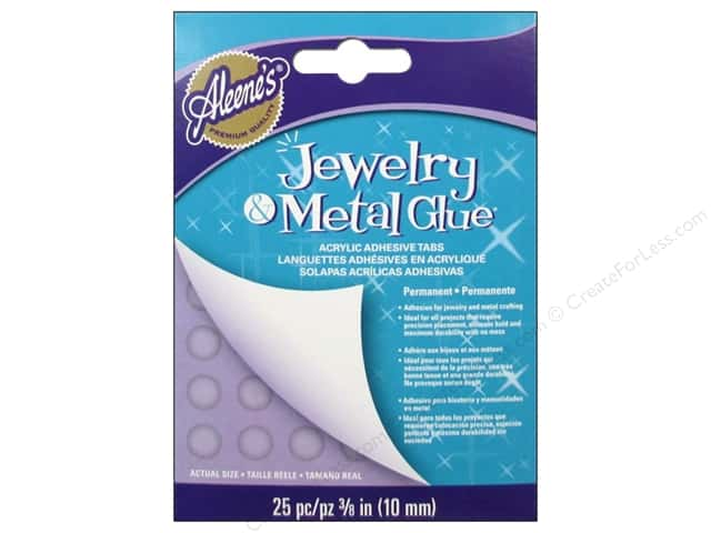 Aleene's Jewelry and Metal Glue Acrylic Adhesive Tabs 25 pc.