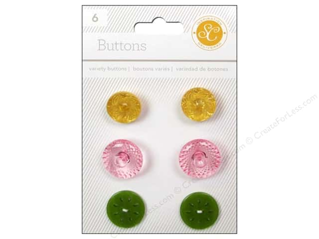 Studio Calico Embellishments Lemonlush Buttons Variety