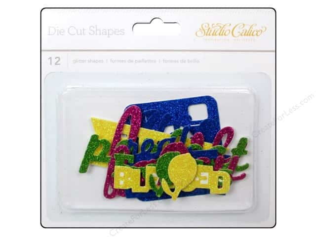 Studio Calico Embellishments Lemonlush Die Cut Glitter Shape