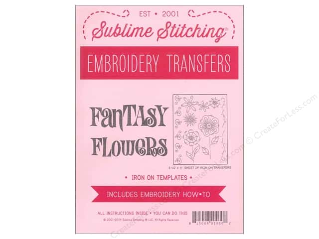 Sublime Stitching Embroidery Transfers Fantasy Flowers