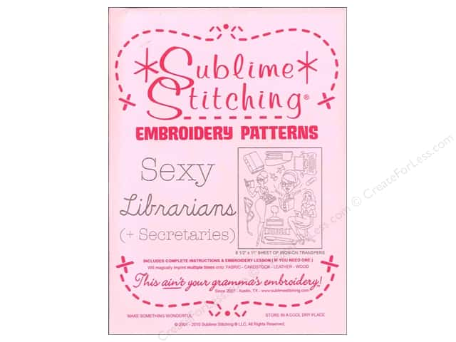 Sublime Stitching Embroidery Transfers Sexy Librarians