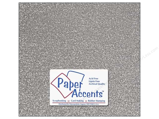 Paper Accents Adhesive Vinyl 12 x 12 in. Removable Sparkle Silver (12 sheets)