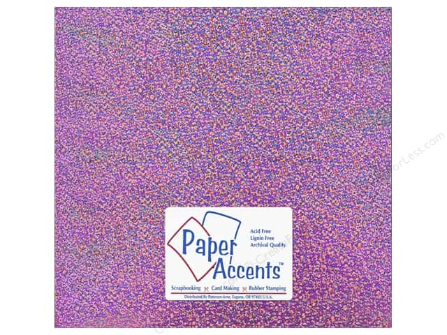 Paper Accents Adhesive Vinyl 12 x 12 in. Removable Sparkle Pink (12 sheets)
