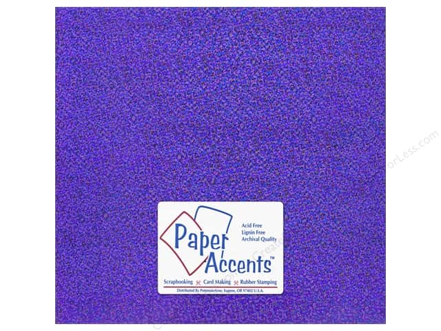 Paper Accents Adhesive Vinyl 12 x 12 in. Removable Sparkle Purple (12 sheets)