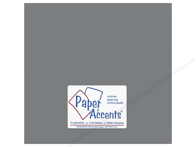 Paper Accents Adhesive Vinyl 12 x 12 in. Removable Gray (12 sheets)