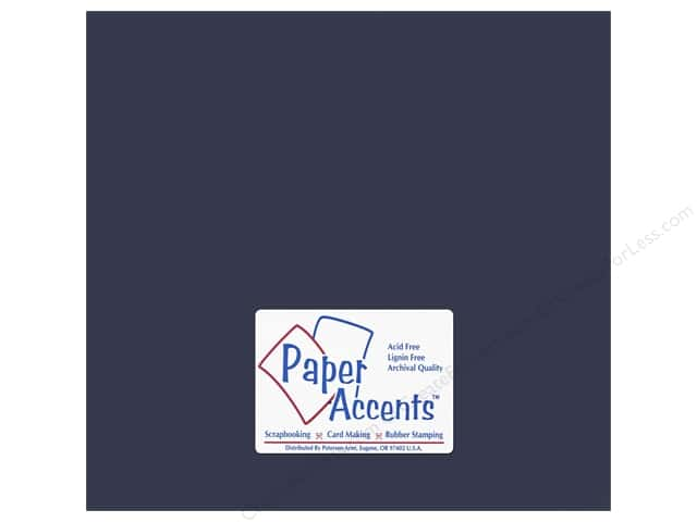 Paper Accents Adhesive Vinyl 12 x 12 in. Removable Midnight Blue (12 sheets)