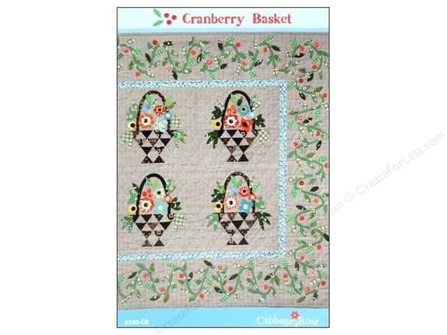 Cabbage Rose Cranberry Basket Pattern