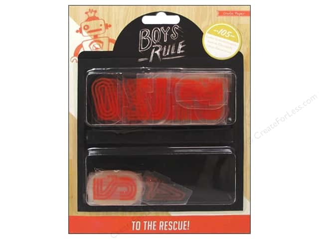 Crate Paper Embellishments Boys Rule Plastic Letters