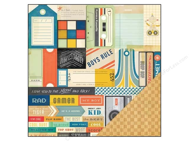 Crate Paper 12 x 12 in. Paper Boys Rule Cool Kid (25 sheets)