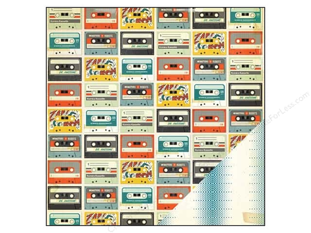 Crate Paper 12 x 12 in. Paper Boys Rule Mix Tape (25 sheets)