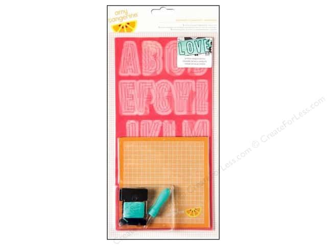 American Crafts Embroidery Stencil Kit Amy Tangerine Plus One Comrade Alphabet