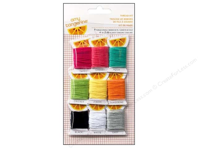 American Crafts Embroidery Stencil Thread Kit Amy Tangerine Plus One