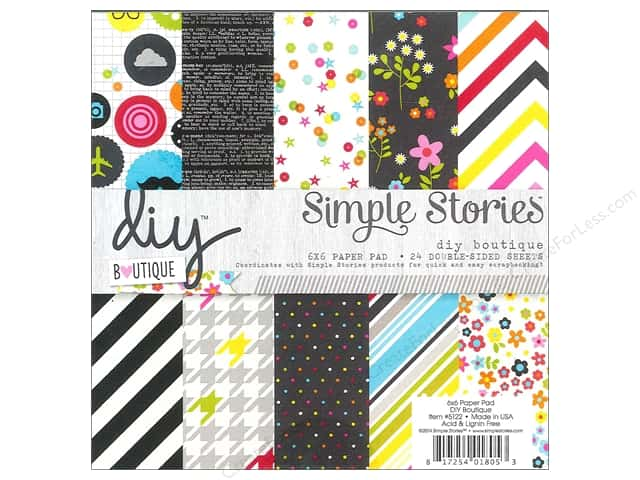 Simple Stories Paper 6 x 6 in. Pad DIY Boutique