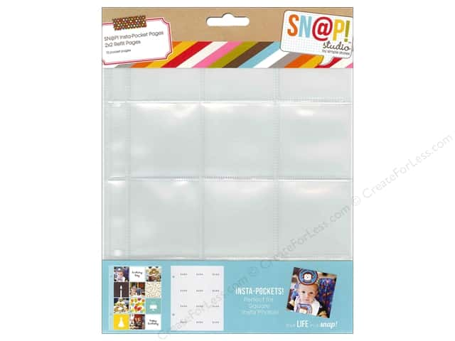 Simple Stories Sn@p Insta-Pocket Pages 10 pc. 2 x 2 in.