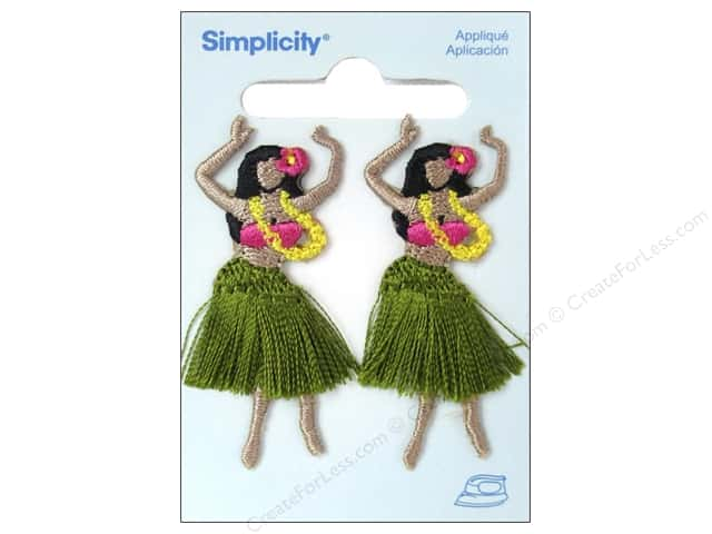 Simplicity Applique Iron On Hula Girls