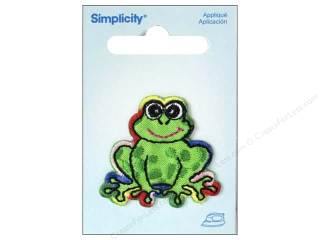 Simplicity Applique Iron On Rainbow Frog