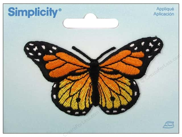 Simplicity Appliques Iron On Butterfly Yellow/Orange