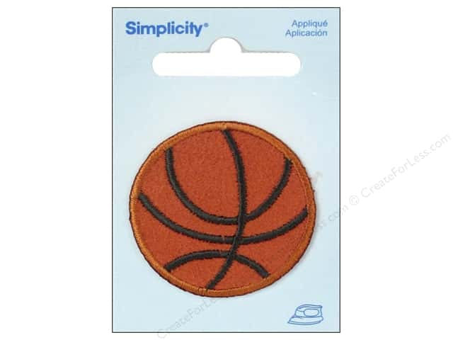 Simplicity Appliques Iron On Small Basketball Orange