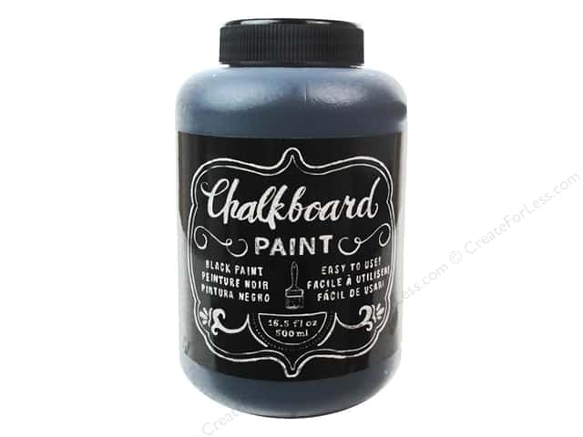 American Crafts DIY Shop Chalkboard Paint 16 1/2 oz. Black