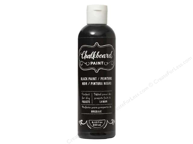 American Crafts DIY Shop Chalkboard Paint 8.45 oz. Black