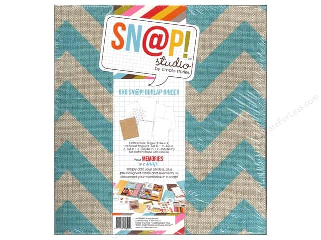 Simple Stories SN@P! Burlap Binder  6 x 8 in. Teal