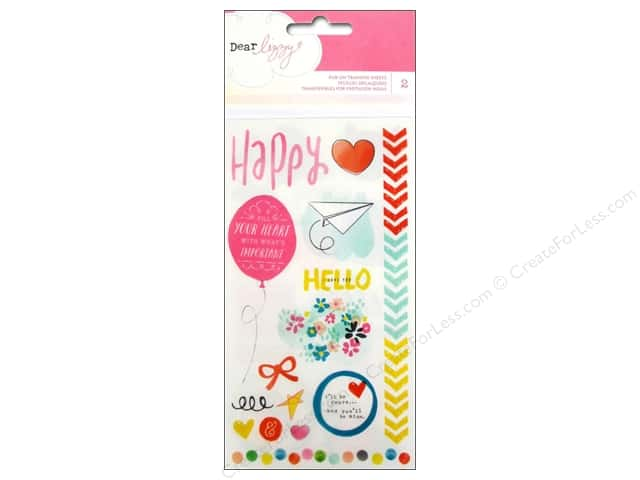 American Crafts Rub-On Transfer Dear Lizzy Daydreamer Accents & Phrases