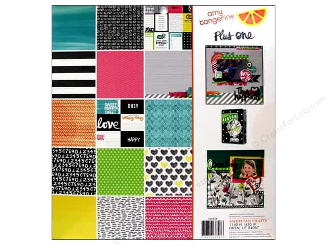 American Crafts Paper Pad 12 x 12 in. Amy Tangerine Plus One