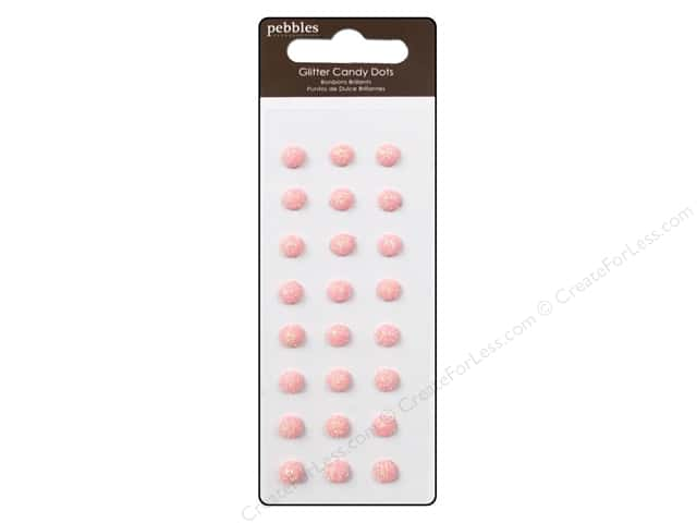 Pebbles Sticker Candy Dots Glitter Peony