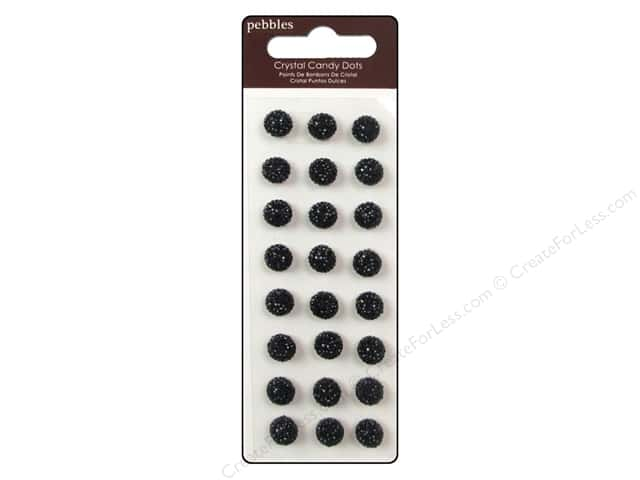 Pebbles Sticker Candy Dots Crystal Black