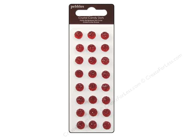 Pebbles Sticker Candy Dots Crystal Rouge