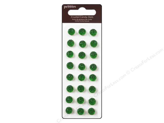 Pebbles Sticker Candy Dots Crystal Spinach