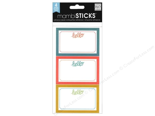 Me & My Big Ideas Sticks Label Stickers Medium Colorful Hello