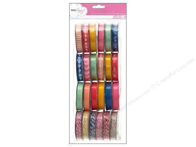 American Crafts Ribbon Value Pack 24 pc. Dear Lizzy Daydreamer