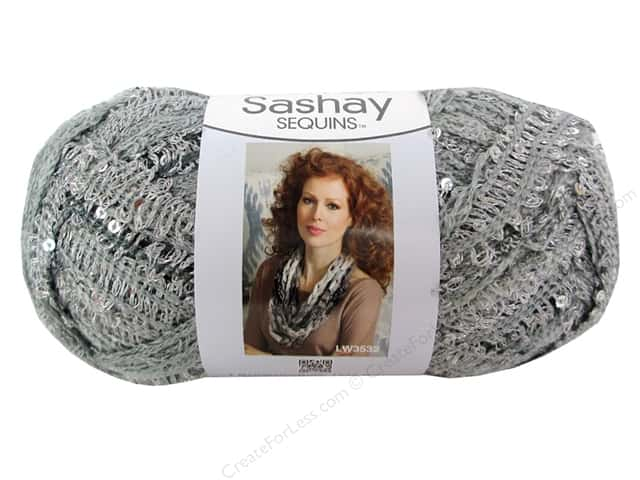 Red Heart Boutique Sashay Yarn #1947 Sequin Smoky 20 yd.