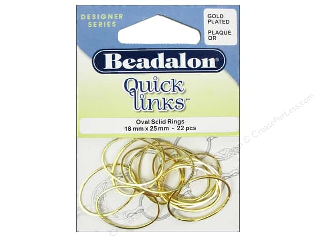 Beadalon Quick Links Oval 18 x 25 mm Gold 22 pc.
