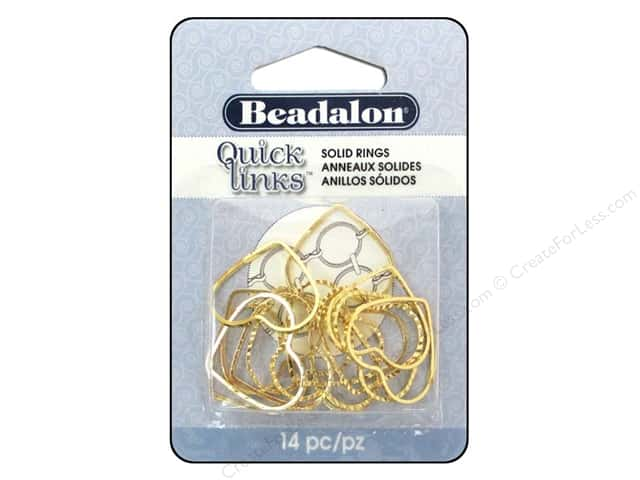 Beadalon Quick Links Diamond Cut Heart 19 x 21 mm Gold 14 pc.