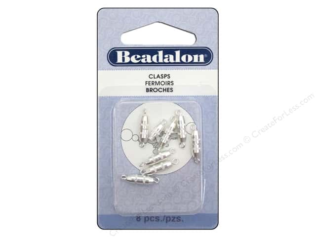 Beadalon Torpedo Clasps 10 mm Silver 8 pc.