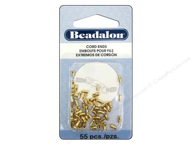 Beadalon Cord Ends Light 1.5 mm 55 pc. Gold