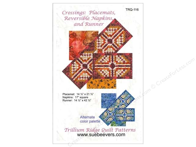 QuiltWoman.com Crossing Placemat Reversible Napkins And Runner Pattern
