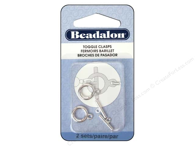 Beadalon Toggle Clasps 10.4 mm Medium Silver 2 pc.