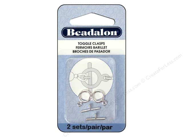 Beadalon Toggle Clasps 9 mm Small 2 pc. Silver