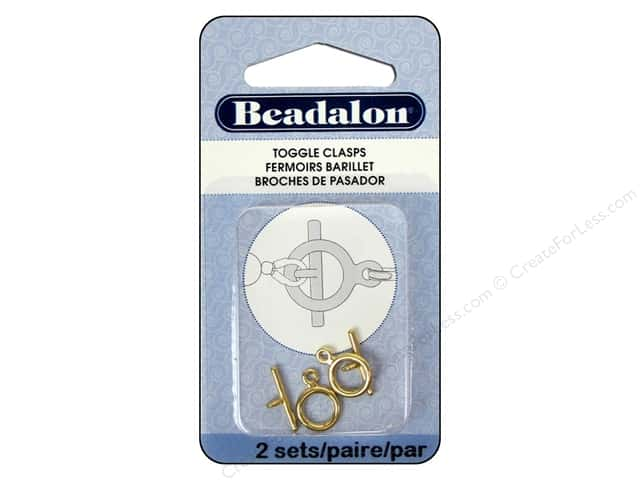 Beadalon Toggle Clasps 9 mm Small 2 pc. Gold